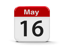 16th May. Calendar web button - The Sixteenth of May, three-dimensional rendering, 3D illustration Royalty Free Stock Images