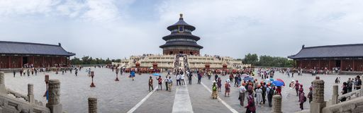19th of May, 2018: The Hall of Prayer for Good Harvest at the Temple of Heaven, Beijing, China, Asia.  royalty free stock photography