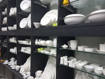 20th may 2017, kuala lumpur.Shop selling chinaware and props for hotel restaurant. Display of chinaware and props fir restaurant stock images