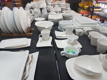 20th may 2017, kuala lumpur.Shop selling chinaware and props for hotel restaurant. Display of chinaware and props fir restaurant stock photo