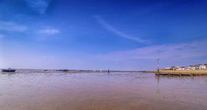 13th May 2016 Low tide Thorpe Bay Essex Stock Images
