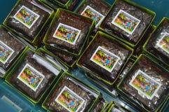 Th?me de minecraft de 'brownie' photographie stock libre de droits