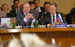 35th Meeting of the Council of Ministers of Foreign Affairs of the Organization of the Black Sea Economic Cooperation Member State Royalty Free Stock Photography