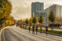 40th międzynarodowy Istanbul maraton, atlety i zdjęcia royalty free