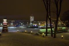 20th Międzynarodowy Lodowej rzeźby festiwal w Jelgava Latvia Obrazy Royalty Free