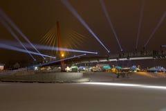 20th Międzynarodowy Lodowej rzeźby festiwal w Jelgava Latvia Obrazy Stock