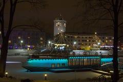 20th Międzynarodowy Lodowej rzeźby festiwal w Jelgava Latvia Zdjęcia Stock