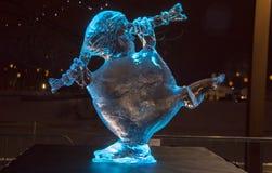 20th Międzynarodowy Lodowej rzeźby festiwal w Jelgava Latvia Obraz Stock