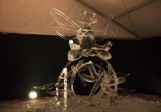 20th Międzynarodowy Lodowej rzeźby festiwal w Jelgava Latvia Zdjęcie Stock