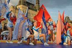 9th Military and Sports Forum on Red square Stock Image