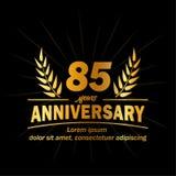 85th molde do projeto do aniversário 85th vetor e ilustração dos anos ilustração do vetor