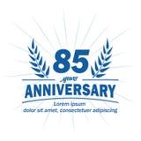 85th molde do projeto do aniversário 85th vetor e ilustração dos anos ilustração stock