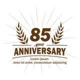 85th molde do projeto do aniversário 85th vetor e ilustração dos anos ilustração royalty free