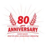 80th molde do projeto do aniversário 80th vetor e ilustração dos anos ilustração stock