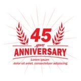 45th molde do projeto do aniversário 45th vetor e ilustração dos anos ilustração do vetor