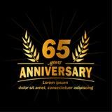 65th molde do projeto do aniversário 65th vetor e ilustração dos anos ilustração do vetor