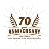 70th molde do projeto do aniversário 70th vetor e ilustração dos anos ilustração do vetor
