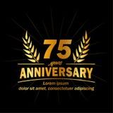 75th molde do projeto do aniversário 75th vetor e ilustração dos anos ilustração do vetor