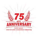 75th molde do projeto do aniversário 75th vetor e ilustração dos anos ilustração royalty free