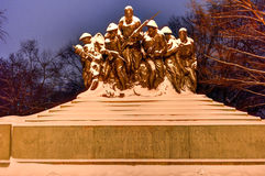 107th monument d'infanterie des Etats-Unis - New York Photo stock