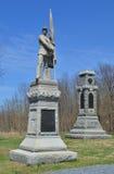 125th monumento della fanteria della Pensilvania - campo di battaglia nazionale di Antietam Immagine Stock