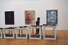 7th Moskva internationella Biennale av samtida konst Royaltyfria Bilder