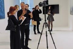 7th Moskva internationella Biennale av samtida konst Royaltyfri Bild