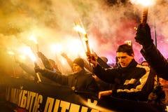 109th narodziny rocznica Stepan Bandera w Kyiv Fotografia Royalty Free