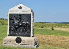 9th New York Calvarymonument på Gettysburg, Pennsylvania Royaltyfri Fotografi