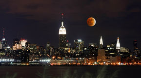 Th New York City Skyline Royalty Free Stock Images