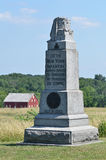 10th New York infanterimonument på Gettysburg, Pennsylvania Royaltyfri Foto