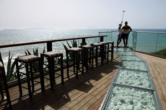 7th Niebiańska kawiarnia, Corfu, Grecja Zdjęcia Stock