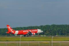 14th Nov 2018, Kuala Lumpur, AirAsia Airline aircraft. Landed at KLIA airport royalty free stock photography