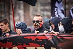 4th November i Moskva, Ryssland. Rysk mars Royaltyfria Bilder
