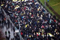 4th November i Moskva, Ryssland. Rysk mars Fotografering för Bildbyråer
