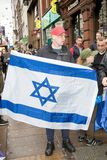 National Demo: Justice Now - Make it right for Palestine London. 4th November 2017, London, United Kingdom:-Pro Israeli protesters counter demonstrate a pro Royalty Free Stock Photography
