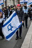 National Demo: Justice Now - Make it right for Palestine London. 4th November 2017, London, United Kingdom:-Pro Israeli protesters counter demonstrate a pro Stock Image