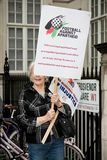 National Demo: Justice Now - Make it right for Palestine London. 4th November 2017, London, United Kingdom:-Pro Palestine demonstrators march through London Stock Image
