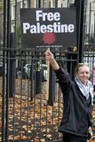 National Demo: Justice Now - Make it right for Palestine London. 4th November 2017, London, United Kingdom:-Pro Palestine demonstrators march through London Royalty Free Stock Photo