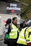 National Demo: Justice Now - Make it right for Palestine London. 4th November 2017, London, United Kingdom:-Pro Palestine demonstrators march through London Royalty Free Stock Images