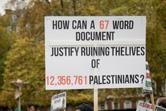 National Demo: Justice Now - Make it right for Palestine London Stock Photo