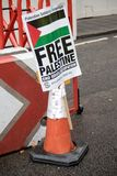 National Demo: Justice Now - Make it right for Palestine London. 4th November 2017, London, United Kingdom:- Pro Palestine placards at a rally against the 1917 Royalty Free Stock Photography