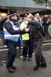 National Demo: Justice Now - Make it right for Palestine London. 4th November 2017, London, United Kingdom:-Unidentified protester scuffles with a police officer Stock Photography