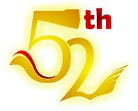 52th. Is the number when you need t celebrate everything,like birthday, anniversary or ect royalty free illustration