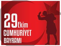 29th October National Republic Day of Turkey, Celebration Graphic Design. Vector illustration. EPS 10 Stock Photography