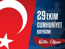 29th October National Republic Day of Turkey, Celebration Graphic Design. Vector illustration. eps 10. sale poster Stock Images