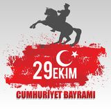 29th October National Republic Day of Turkey, Celebration Graphic Design. Vector illustration. eps 10. sale poster Stock Photo