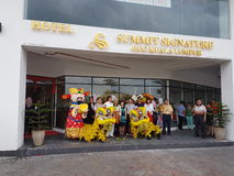 9th October 2016, Puchong Road, Kuala Lumpur. Today is the Soft opening of Summit Signature Hotel OUG Kuala Lumpur. Royalty Free Stock Images