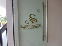 9th October 2016, Puchong Road, Kuala Lumpur. Today is the Soft opening of Summit Signature Hotel OUG Kuala Lumpur. Stock Photography