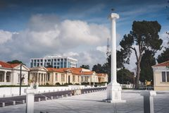 28th October Square. Paphos, Cyprus.  Royalty Free Stock Images